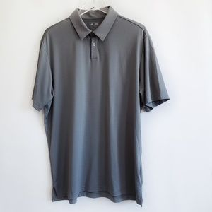 Men's Adidas grey polo sport shirt size L